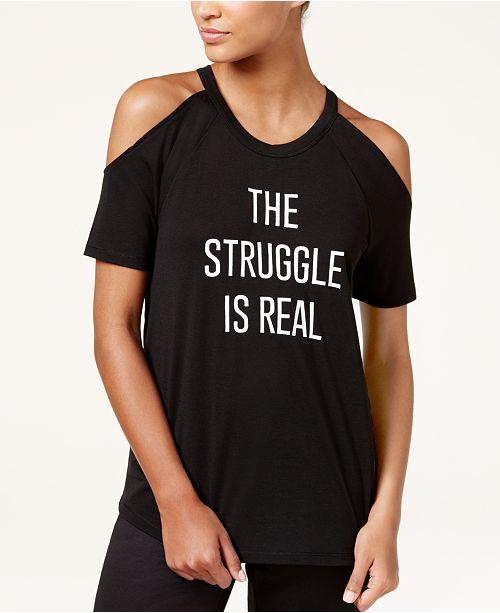 243bd12fc803d ... Material Girl Active Juniors  Cold-Shoulder Graphic T-Shirt