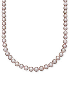 Belle de Mer Pearl Necklace, 14k Gold Pink Cultured Freshwater Pearl Strand (8-1/2-9-1/2mm)