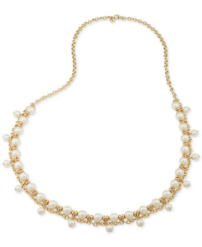 Carolee Gold-Tone Imitation Pearl Shaky Rope Necklace
