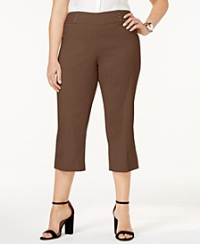 Plus Size Tummy Control Pull-On Capri Pants, Created for Macy's