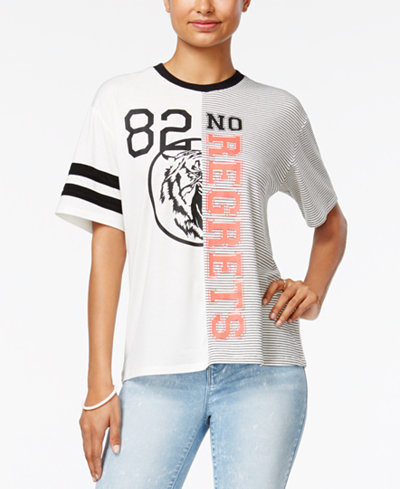 Love Tribe Juniors' No Regrets '82 Graphic T-Shirt with Bracelet