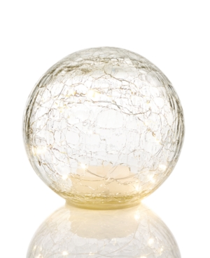 Holiday Lane 15cm LightUp Led Glass Sphere Created for Macys