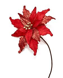 Santa's Favorites Poinsettia Pick Ornament Created for Macy's