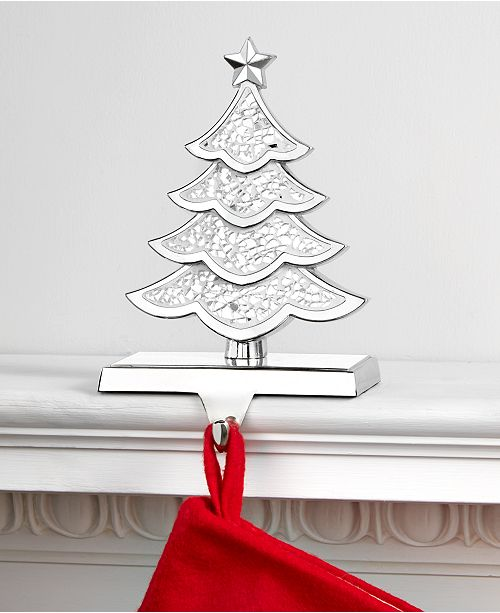 Christmas Tree Stocking Holder.Shine Bright Mosaic Christmas Tree Stocking Holder Created For Macy S