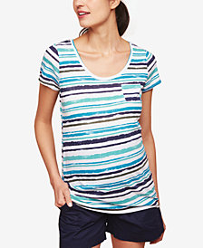 Motherhood Maternity Striped Pocket T-Shirt