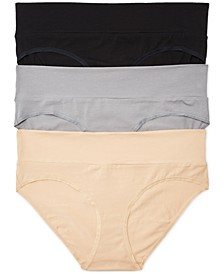 Plus Size 3-Pk. Fold-Over Panties