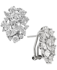 Arabella Swarovski Zirconia Cluster Stud Earrings in Sterling Silver