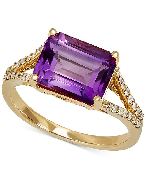 Macy's Amethyst (2-9/10 ct. t.w.) & Diamond (1/8 ct. t.w.) Ring in 14k Gold