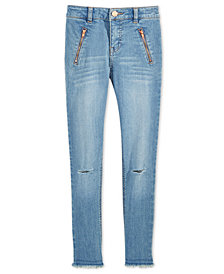 Tommy Hilfiger Big Girls Distressed Moto Skinny Jeggings