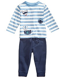Patch-Print T-Shirt & Jogger Pants, Baby Boys (0-24 months), Created for Macy's