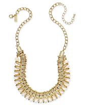 INC International Concepts Gold-Tone Multi-Ring Beaded Statement Necklace, Created for Macy's