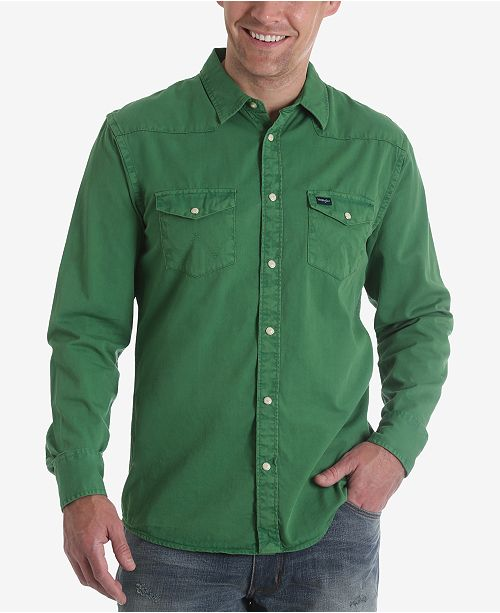 908264f0d12 Wrangler Men s 70th Anniversary Collection Authentic Western Style Shirt