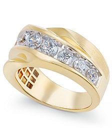 Diamond Twist Statement Ring (2 ct. t.w.) in 10k Gold