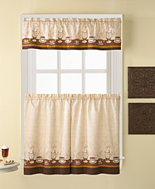 "CHF Café Au Lait 56"" x 36"" Window Tier & Valance Set"