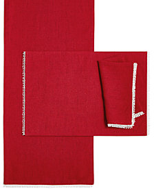 Lenox French Perle Scarlet Napkin, Placemat & Runner Collection