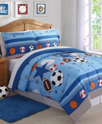 Kids Sports & Stars Reversible 2-Pc. Twin Comforter Set
