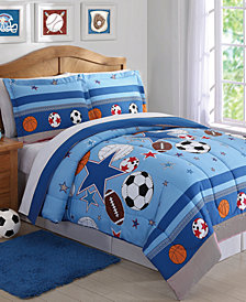 Laura Hart Kids Sports & Stars Reversible 2-Pc. Twin Comforter Set