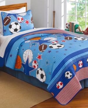 Laura Hart Kids Sports  Stars Reversible 3Pc FullQueen Comforter Set Bedding