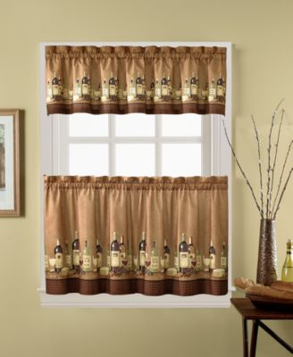 "Wines 24"" Window Tier & Valance Set"