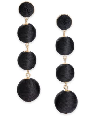 Image of INC International Concepts Gold-Tone Graduated Linear Drop Earrings, Created for Macy's