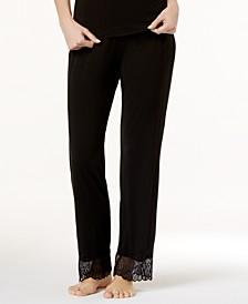 Minoa Wide-Leg Lace-Trim Pajama Pants MINSW5451