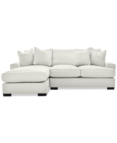Ainsley 2-Piece Sectional with Chaise & 4 Toss Pillows, Created for Macy's