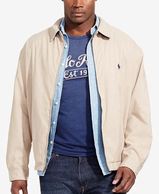 Polo Ralph Lauren Men's Big and Tall Jackets, Bi-Swing Windbreaker ...