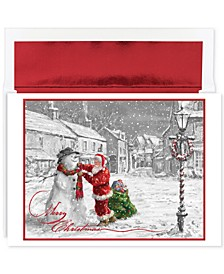 Santa & Snowman Set Of 18  Boxed Holiday Greeting Cards With Envelopes