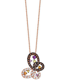 Le Vian® Multi-Gemstone (1-7/8 ct. t.w.) Pendant Necklace in 14k Rose Gold