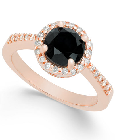 Diamond Halo Ring (1-3/4 ct. t.w.) in 14k Rose Gold
