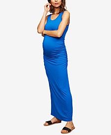 Isabella Oliver Maternity Ruched Maxi Dress