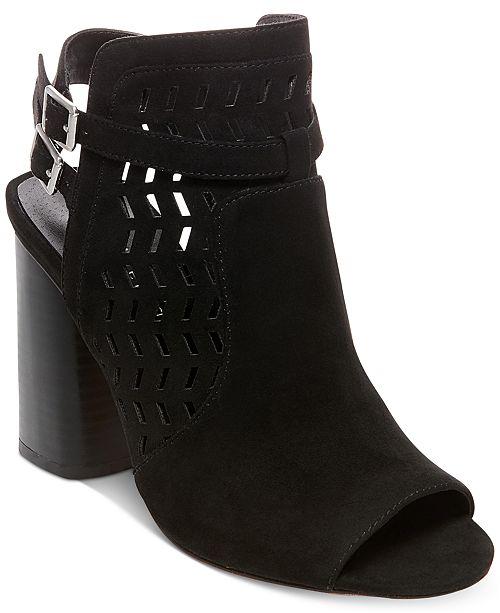 Addy Peep-Toe Block-Heel Dress Sandals