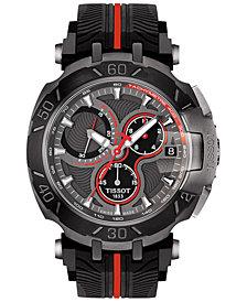 Tissot Men's Swiss Chronograph T-Race MotoGP 2017 Black Rubber Strap Watch 47x45mm
