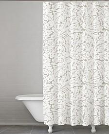 Cassadecor Fern Cotton Shower Curtain