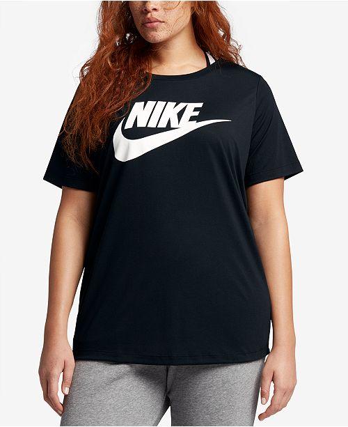 34b744d5e19a6 Nike Plus Size Futura Logo T-Shirt   Reviews - Tops - Plus Sizes ...