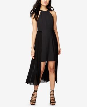 Rachel Rachel Roy  PLEATED-OVERLAY HIGH-LOW DRESS