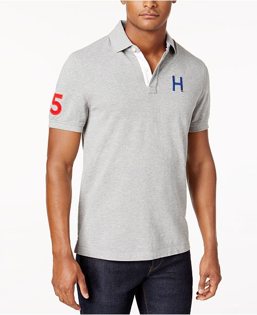 54e38275 Tommy Hilfiger Men's Flanders H Logo Custom Fit Polo & Reviews ...
