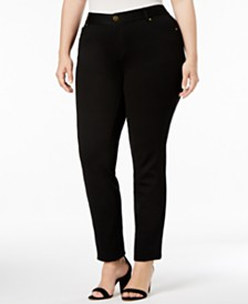 I.N.C. Plus Size Skinny Ponte Pants, Created for Macy's