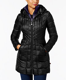 Bernardo Hooded Packable Puffer Coat