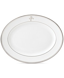 Federal Platinum Monogram Oval Platter, Block Letters