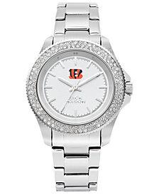 Jack Mason Women's Cincinnati Bengals Glitz Sport Bracelet Watch