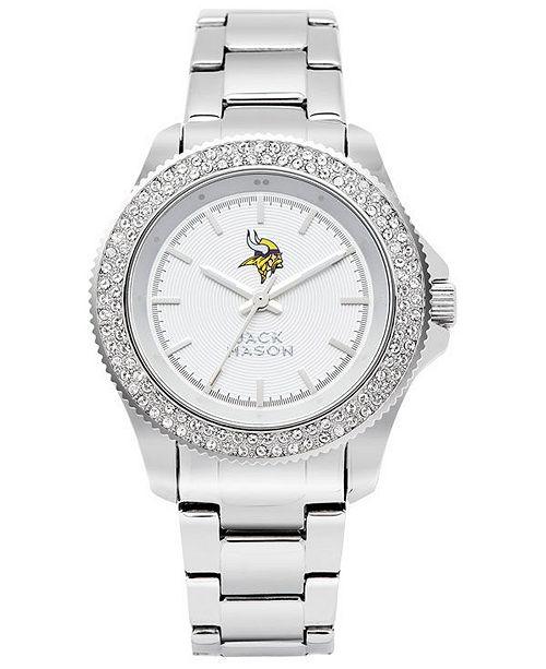 Jack Mason Women's Minnesota Vikings Glitz Sport Bracelet Watch