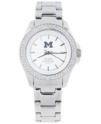 Jack Mason Women's Michigan Wolverines Glitz Sport Bracelet Watch
