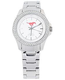 Jack Mason Women's Southern Methodist Mustangs Glitz Sport Bracelet Watch
