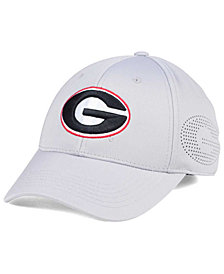 Top of the World Georgia Bulldogs Light Gray Rails Flex Cap