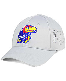 Top of the World Kansas Jayhawks Light Gray Rails Flex Cap