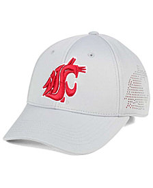 Top of the World Washington State Cougars Light Gray Rails Flex Cap