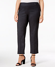 JM Collection Plus Size Pull-On Capri Pants, Created for Macy's