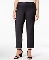 a5db26b42ae9 JM Collection Plus   Petite Plus Size Tummy Control Pull-On Capri Pants