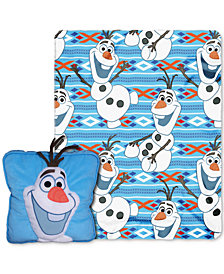 "Disney Frozen ""All About Olaf"" 3D Pillow & Throw Set"